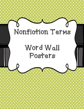 Nonfiction Terms Word Wall Posters