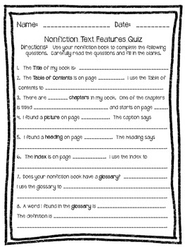 Nonfiction Test or Quiz