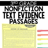 Nonfiction Text Evidence 3rd Grade Reading Toothy®