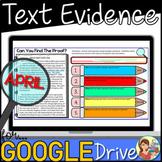 Nonfiction Text Evidence (APRIL) Google Classroom Distance