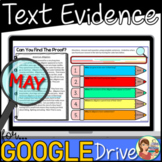 Nonfiction Text Evidence (MAY) Google Classroom Distance Learning
