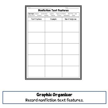 Nonfiction Text Featues Learning Pack