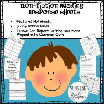 Nonfiction Text Feature Posters, Lesson Plan and Response Sheets