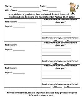 Nonfiction Text Feature Chart