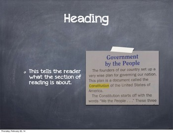 Nonfiction Text Feature Example Slideshhow