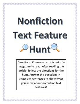 Nonfiction Text Feature Hunt