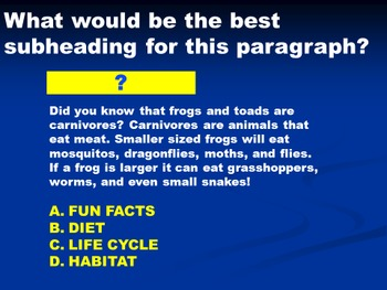 Nonfiction Text Feature Jeopardy
