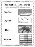 Nonfiction Text Feature Matching Quick Check/Assessment