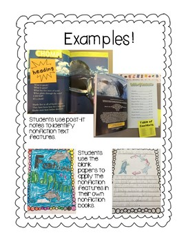 Nonfiction Text Feature Notebook and Nonfiction Writing Pack
