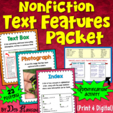 Nonfiction Text Features Posters and Worksheet