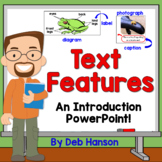 Nonfiction Text Features PowerPoint with Distance Learning Option