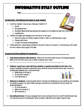 Informational Essay Outline