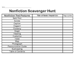 Nonfiction Text Feature Scavenger Hunt