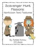 Nonfiction Text Feature Scavenger Hunt Missions
