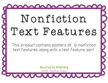 Nonfiction Text Feature Sort & Posters
