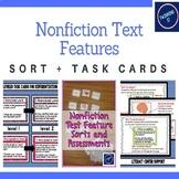 Nonfiction Text Feature: Sort + Task Cards