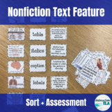 Nonfiction Text Feature Sort and Assessment