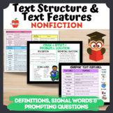 Nonfiction Text Feature & Structure Cards: Signal Words, P