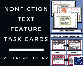 Nonfiction Text Feature Task Cards