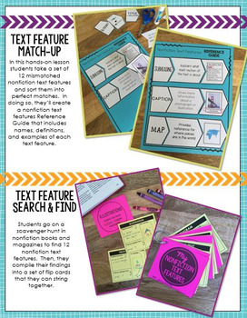Nonfiction Text Features:  6 Fun Lessons for Reading Informational Texts