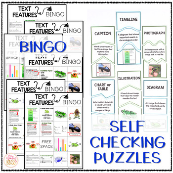 Nonfiction Text Features - anchor chart posters & worksheets