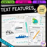 Nonfiction Text Features- 4th Grade RI.4.7