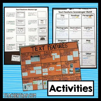 Nonfiction Text Features Activities