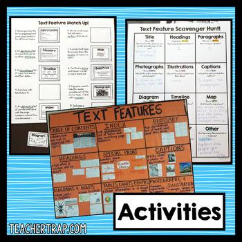 Nonfiction Text Features Activities