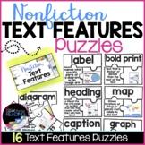 Nonfiction Text Features Activity | 16 Nonfiction Text Features Puzzles