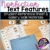 Nonfiction Text Features Activity: Gallery Walk Chart Poster & Student Materials