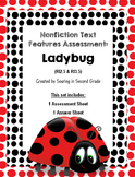 Nonfiction Text Features Assessment Ladybug
