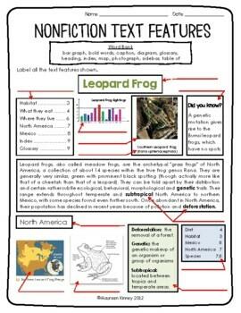 Nonfiction Text Features - Lessons - Tes Teach