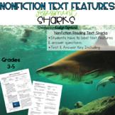 Nonfiction Text Features Test 1: Sharks (Digital & Printable)