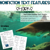 Nonfiction Text Features Test 1: Sharks (Digital & Printable)