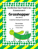 Nonfiction Text Features Assessment Grasshopper