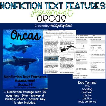 Nonfiction Text Features Assessment 4: Orcas