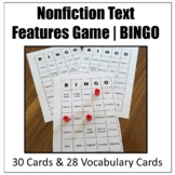 Nonfiction Text Features Game | BINGO