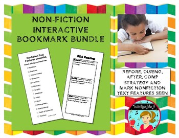 Nonfiction Text Features:Before, During, and After 2-Sided Interactive Bookmark