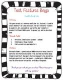 Nonfiction Text Features Bingo - Library Media Center or Classroom Activity