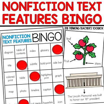 Nonfiction Text Features Bingo RI.2.5, RI.3.5