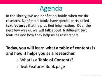 Nonfiction Text Features Book and PowerPoint Bundle