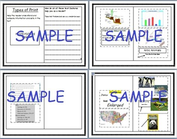 Nonfiction Text Features Booklet RI1, RI2, RI5
