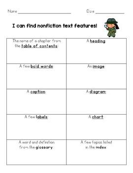 Nonfiction Text Features Bundle!