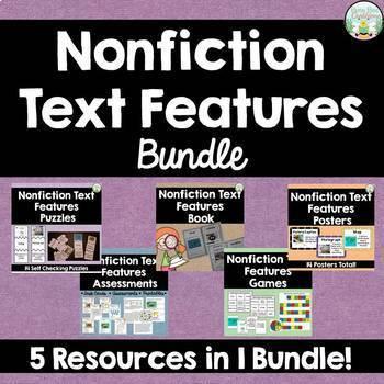 Nonfiction Text Features Bundle - Save 25%