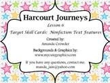 Nonfiction Text Features Cards - Harcourt Journeys Lesson 6