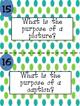 Nonfiction Text Features Carousel Game