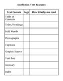 Nonfiction Text Features Chart 2