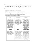 Nonfiction Text Features Choice Board