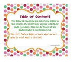 Nonfiction Text Features - Classroom Posters