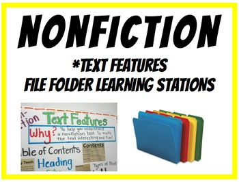 Nonfiction Text Features Classroom Stations